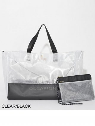【SUPERTHANKS/スーパーサンクス】OCCASIONサコッシュ付きトートバッグ(CLEAR/BLK)