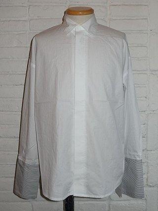 【SUPERTHANKS/スーパーサンクス】配色ダブルカフスシャツ (WHITE/BLACK)