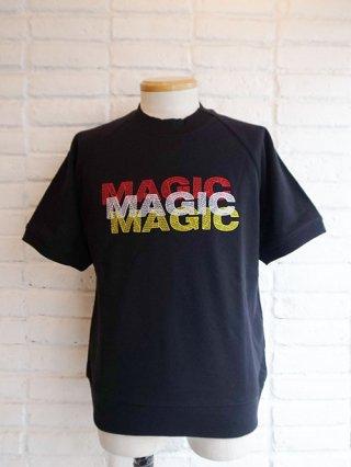 【DIET BUTCHER SLIM SKIN】Magic hour embroidery half sweatshirt (BLACK)