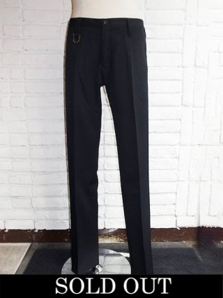 【kiryuyrik/キリュウキリュウ】Gabardine Stretch Slacks (Black)