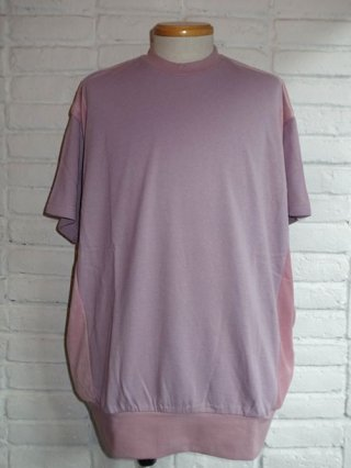 【DIET BUTCHER SLIM SKIN/ダイエットブッチャースリムスキン】Over size half sleeve pullover (LIGHT PURPLE)