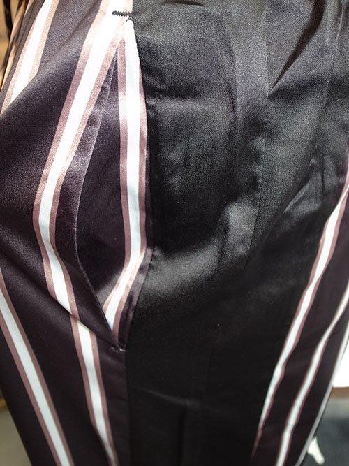 superthanks スーパーサンクス satin wide pants stripe karaln