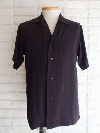 【DIET BUTCHER SLIM SKIN/ダイエットブッチャースリムスキン】Open collared half sleeve shirt (NAVY)