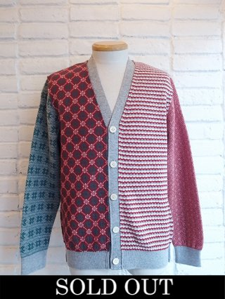 【COOHEM/コーヘン】ARCHIVE JACQUARD CARDIGAN (GRAY)