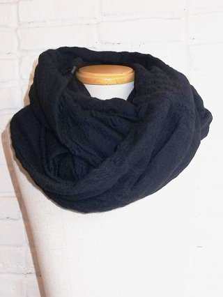 【kiryuyrik/キリュウキリュウ】Twist Border Snood (Black&Black)