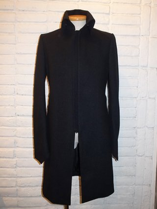 【kiryuyrik/キリュウキリュウ】Shrink Wool High Collar Jacket (BLACK)