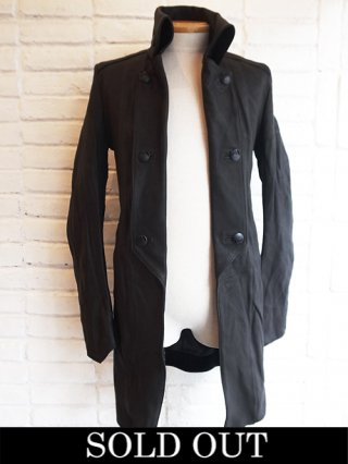 【kiryuyrik Costume Line/SUGIZO】Long Leather Napoleon Jacket (BLACK)