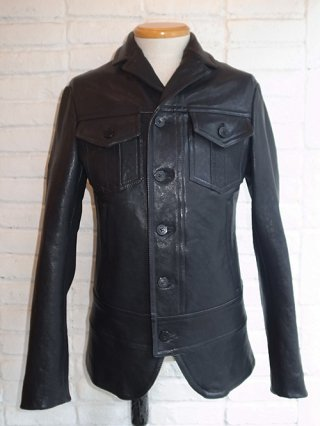 Karaln Exclusive in Japan!【NeIL BarreTT】VINTAGE BUFFALO LEATHER HYBRID JACKET (BLACK)