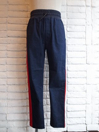 【SUPERTHANKS/スーパーサンクス】VELVET LINE PANTS (NV denim/RED)