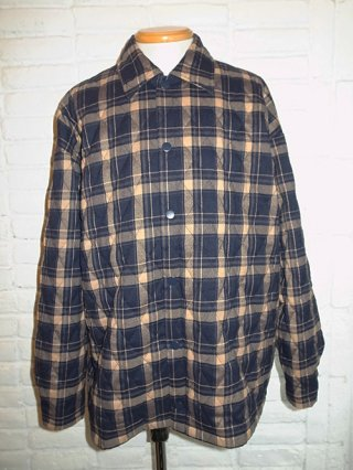 【SUPERTHANKS/スーパーサンクス】QUILTING BIC SHIRT (BEIGE check)