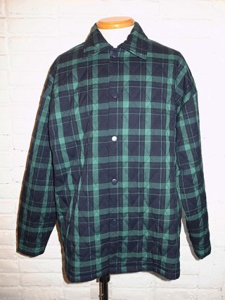 【SUPERTHANKS/スーパーサンクス】QUILTING BIC SHIRT (GREEN check)