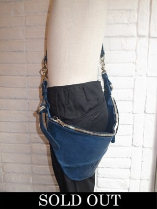 【incarnation/インカネーション】HORSE LEATHER 3WAY BUM FLAP (BLUE)