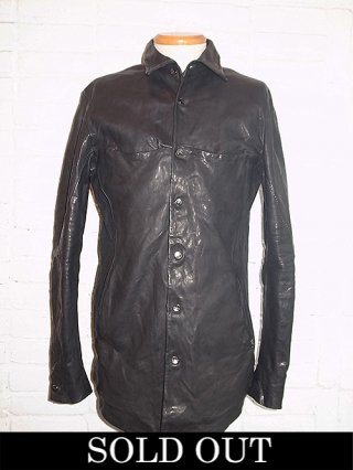 【incarnation/インカネーション】SHEEP LEATHER SHIRT BD #2 LINED (BLACK)