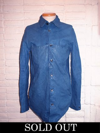 【incarnation/インカネーション】SHEEP LEATHER SHIRT BD #2 LINED (L.BLUE)