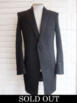 【kiryuyrik/キリュウキリュウ】Leopard JQD Jersey Long Peacked Jacket (Black Leopard)