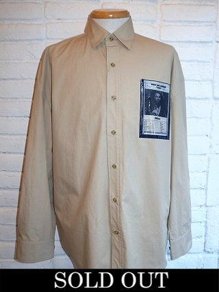 【yoshiokubo/ヨシオクボ】L/S SHIRTS W/WANTED POCKET (BEIGE)