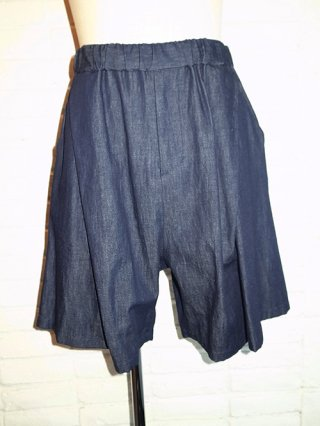 【yoshiokubo/ヨシオクボ】WANTED DENIM SHORTS (INDIGO)