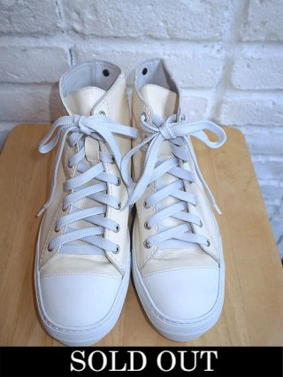【incarnation/インカネーション】CALF WHITE LEATHER HI CUT SNEAKER LINED