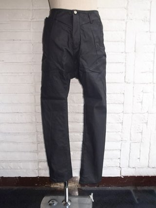 【incarnation/インカネーション】STRETCH COTTON RUBBER COATING SARROUEL CARGO PANTS (BLACK)