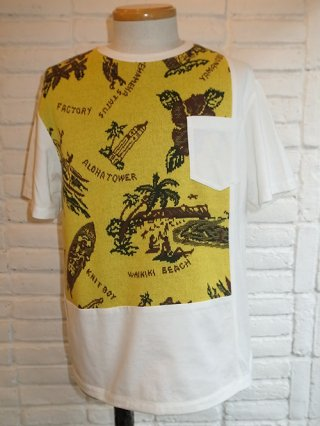 【COOHEM/コーヘン】ALOHA JACQUARD T-SHIRT (YELLOW)