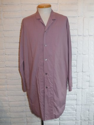 【DIET BUTCHER SLIM SKIN】Long shirt coat (GRAY PURPLE)