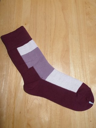 【DIET BUTCHER SLIM SKIN】Bi color sox (PURPLE mix)