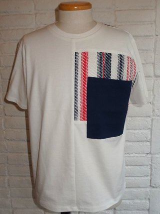 【COOHEM/コーヘン】SUMMER STRIPE TWEED T-SHIRT (WHITE)