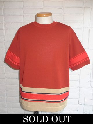 【COOHEM/コーヘン】SPORTY SUMMER KNIT BI-COLOR PULLOVER (RED)