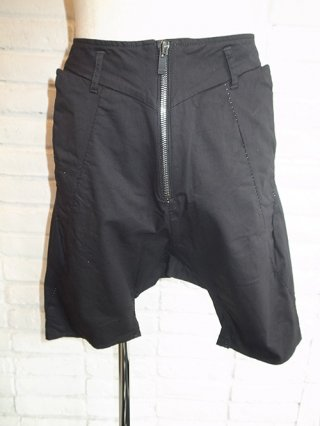 【incarnation/インカネーション】STRETCH COTTON SARROUEL SHORT PANTS (BLACK)