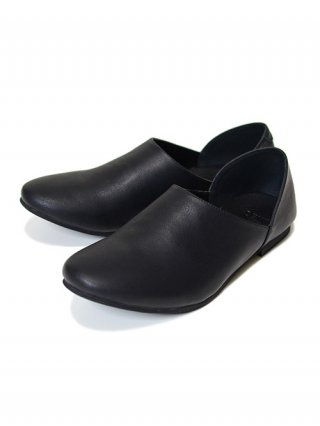 "【SENTI/センティ】ITEM ""BABOUCHE"" LEATHER FLAT-SHOES (BLACK)"