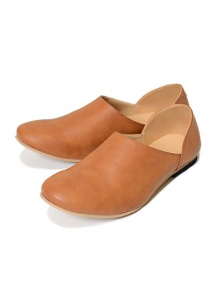 "【SENTI/センティ】ITEM ""BABOUCHE"" LEATHER FLAT-SHOES (CAMEL)"