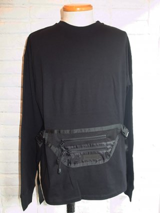 【SUPERTHANKS/スーパーサンクス】WAIST BAG BIC L/S T-SHIRT (BLACK/BLACK)