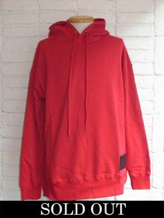 【DIET BUTCHERSLIM SKIN/ダイエットブッチャースリムスキン】Big&Long Sweat Hoodie (RUBY RED)