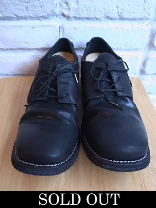 【incarnation/インカネーション】HORSE BUTT SHINNY DERBY #2 LEATHER SOLES (BLACK)