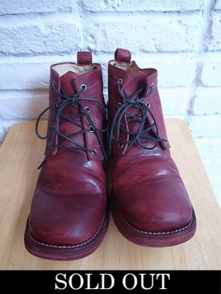 【incarnation/インカネーション】HORSE LEATHER ANCLE 4 HOLE #3 LINED LEATHER SOLES (BORDEAUX)