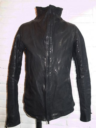 【incarnation/インカネーション】HORSE LEATHER HI-NECK ZIP F BLOUSON SPIRAL ARM #2 BLOUSON LINED (BLACK)