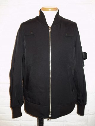 【DIET BUTCHER SLIM SKIN】C/N bomber jacket (BLACK)