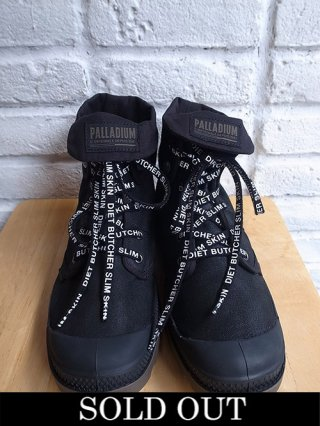 <img class='new_mark_img1' src='https://img.shop-pro.jp/img/new/icons8.gif' style='border:none;display:inline;margin:0px;padding:0px;width:auto;' />【DIET BUTCHER SLIM SKIN×PALLADIUM】2WAY Sneaker (BLACK)
