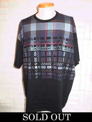 【amok/アモク】DICHOTOMIC CHECK TEE (BLACK)