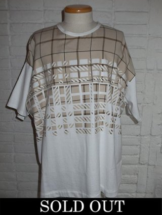 【amok/アモク】DICHOTOMIC CHECK TEE (WHITE)