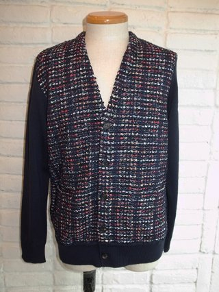 <img class='new_mark_img1' src='https://img.shop-pro.jp/img/new/icons8.gif' style='border:none;display:inline;margin:0px;padding:0px;width:auto;' />【COOHEM/コーヘン】BLAZER TWEED CARDIGANE (NAVY)