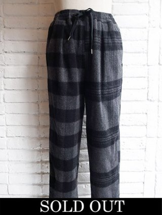 【yoshiokubo/ヨシオクボ】HUNTER SLEEPING PANTS (BLACK)