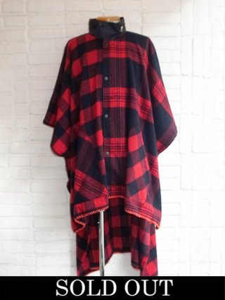 【yoshiokubo/ヨシオクボ】HUNTER PONCHO (RED)