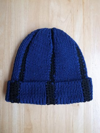 <img class='new_mark_img1' src='https://img.shop-pro.jp/img/new/icons8.gif' style='border:none;display:inline;margin:0px;padding:0px;width:auto;' />【tashiro/タシロ】HANDKNIT CAP (BLUE×BLACK)