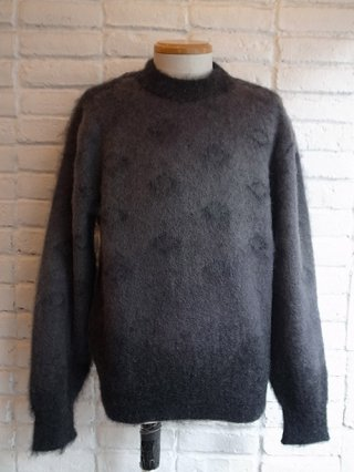 【tashiro/タシロ】KID MOHAIR PULLOVER KNIT (SMOKE)