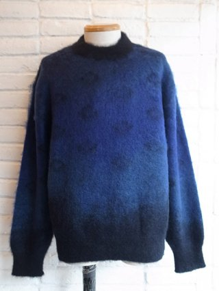 【tashiro/タシロ】KID MOHAIR PULLOVER KNIT (BLUE)