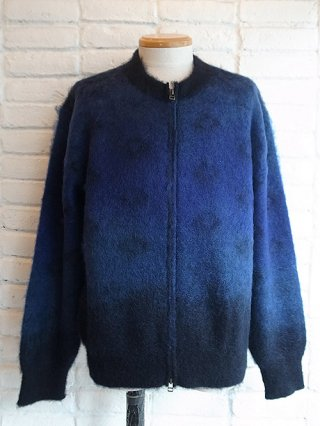 【tashiro/タシロ】KID MOHAIR KNIT CARDIGAN (BLUE)