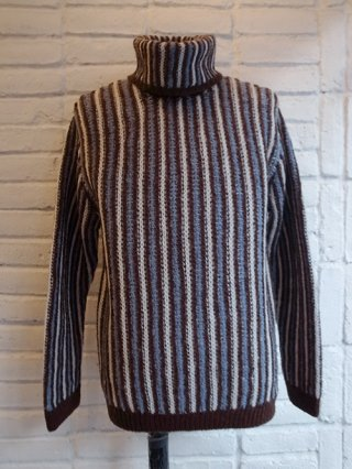 【COOHEM/コーヘン】IVY STRIPE KNIT PULLOVER (BROWN)