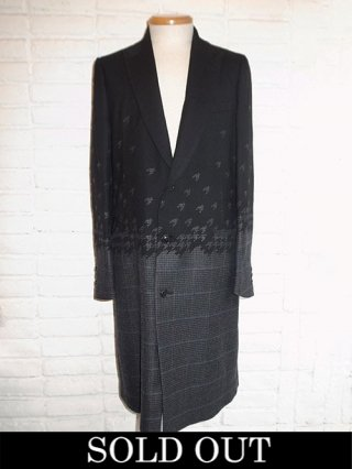 【amok/アモク】DICHOTOMOIC HOUNDTOOTH COAT (BLACK)