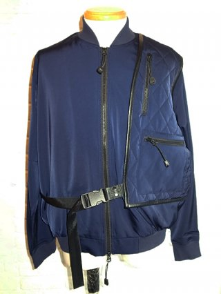 <img class='new_mark_img1' src='https://img.shop-pro.jp/img/new/icons8.gif' style='border:none;display:inline;margin:0px;padding:0px;width:auto;' />【SUPERTHANKS】HOLSTER BAG BLOUSON (NAVY)